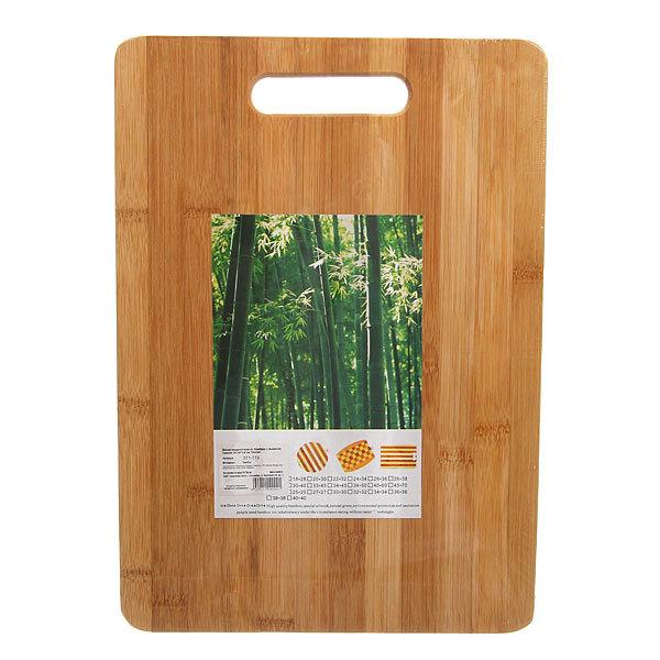 Доска разделочная из бамбука с вырезом темная 34*24*1,8 см TС3424-3 купить оптом и в розницу