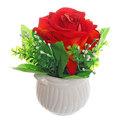 Цветок искусственный ″Роза″ в горшочке малиновая F0686-27 купить оптом и в розницу