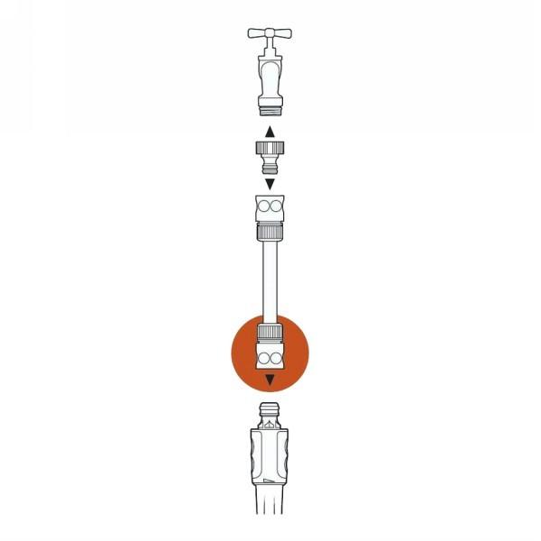 Коннектор с автостопом 1/2″ GARDENA 02913-29.000.00 купить оптом и в розницу