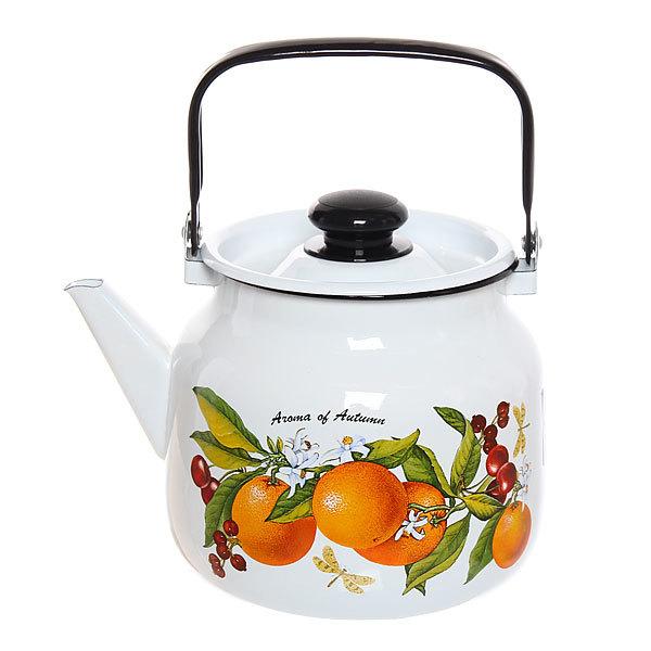 Чайник эмалированный 3,5л ″Фруктовая фантазия″ купить оптом и в розницу