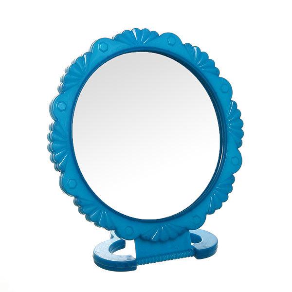 Зеркало настольное в пластиковой оправе ″Резная окантовка″ круг, подвесное d-20см купить оптом и в розницу