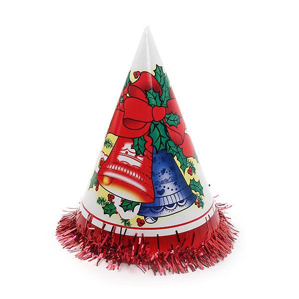 Колпак новогодний ″Новый Год″ с мишурой 24см купить оптом и в розницу