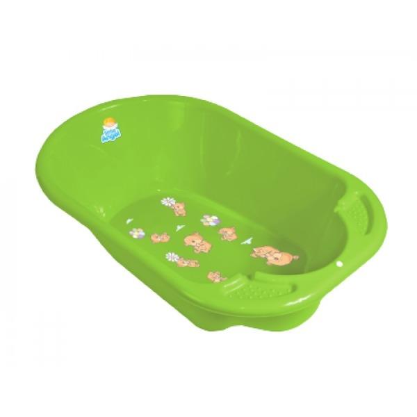 """Ванночка детская """"Дельфин"""" с дизайном Bears салатовый купить оптом и в розницу"""
