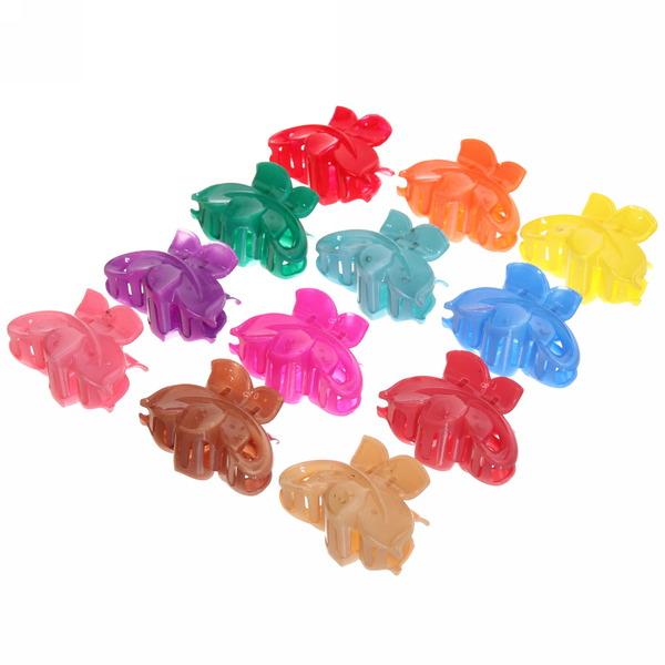 Заколка-краб для волос ″Лилия - ромашки″, цвет микс 8см купить оптом и в розницу