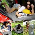 Матрас надувной автомобильный 138х88см,цв. серый купить оптом и в розницу