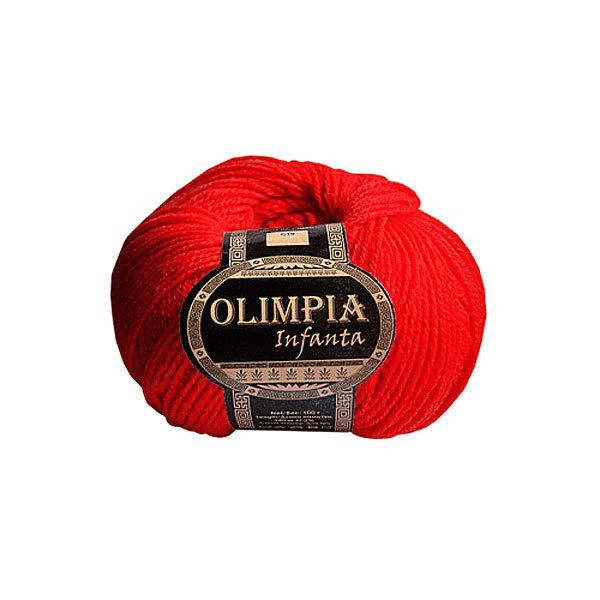Пряжа для вязания Olimpia Infanta цв.C15 неон красная 500г 5шт купить оптом и в розницу