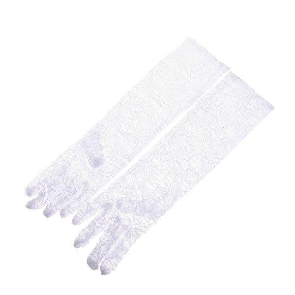 Свадебный аксессуар Перчатки невесты ажурные 40 см купить оптом и в розницу