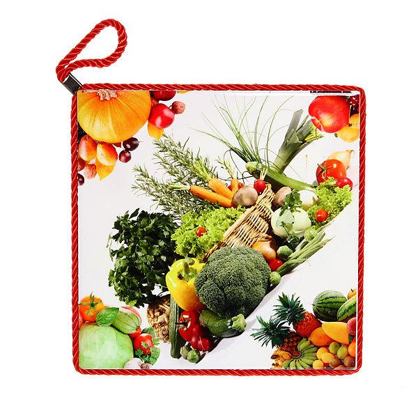Подставка керамическая 20*20 см ″Овощная корзинка″ в ассортименте купить оптом и в розницу