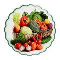 Подставка керамическая 19,5 см ″Овощная корзинка″ в ассортименте купить оптом и в розницу