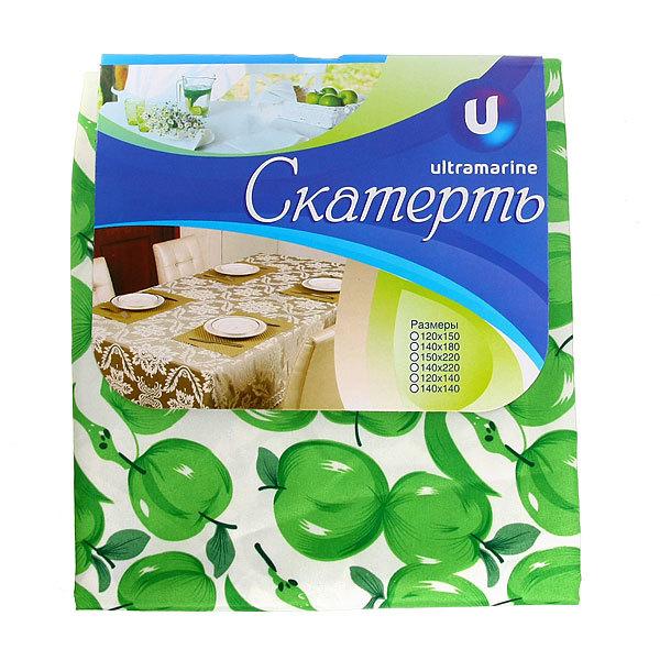 Скатерть ″Зеленые яблоки″ 120*150см купить оптом и в розницу