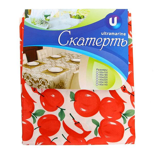 Скатерть ″Красные яблоки″ 120*150см купить оптом и в розницу