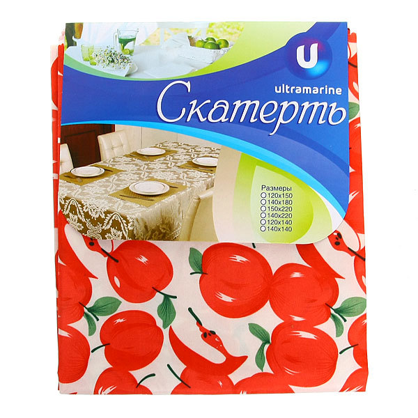 Скатерть ″Летнее настроение″ 140*180см, яблоки красные Ультрамарин купить оптом и в розницу
