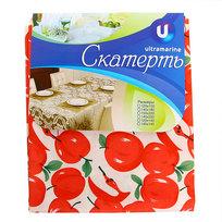 Скатерть ″Летнее настроение″ 150*220см, яблоки красные Ультрамарин купить оптом и в розницу