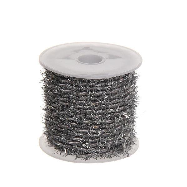 Шнур декоративный с бахрамой 4м серебро 12шт купить оптом и в розницу