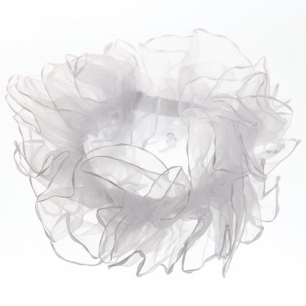 Бант-резинка для волос белый ажурный купить оптом и в розницу