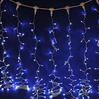 Занавес светодиодный ш 2 * в 6м, 864 лампы LED, ″Дождь″, Белый, 8 реж, прозр.пров. купить оптом и в розницу