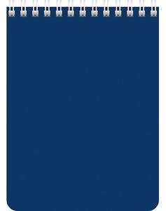 """Блокнот А6 60л.кл.гребень,карт.обл.HATBER, """"Синий"""" купить оптом и в розницу"""