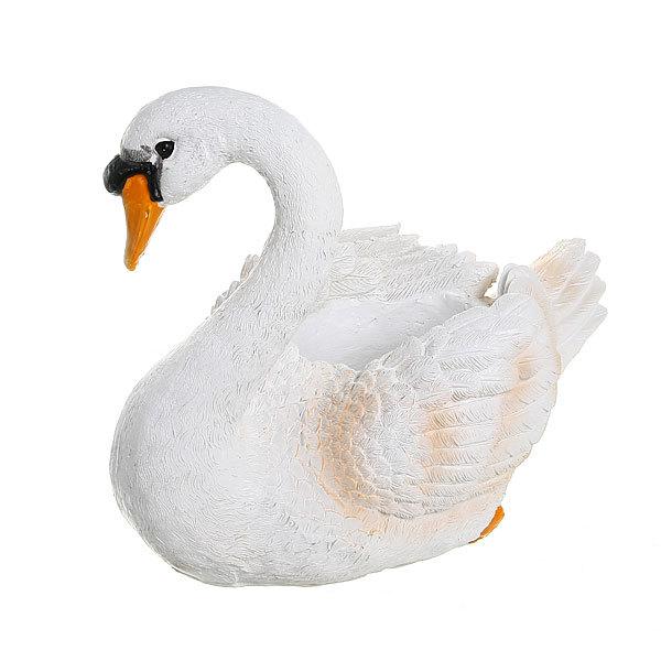 Садовая фигура ″Лебедь″, полистоун, 28*23 см купить оптом и в розницу