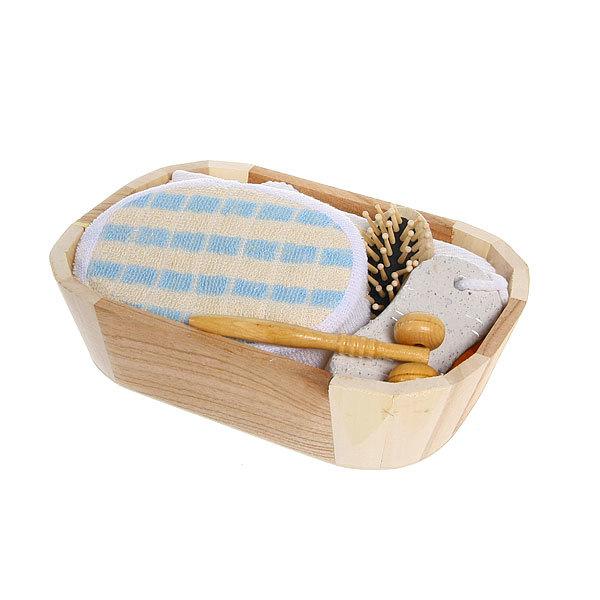 Банный набор в деревянной кадушке ″Банька″ 5 предметов 247-8 купить оптом и в розницу