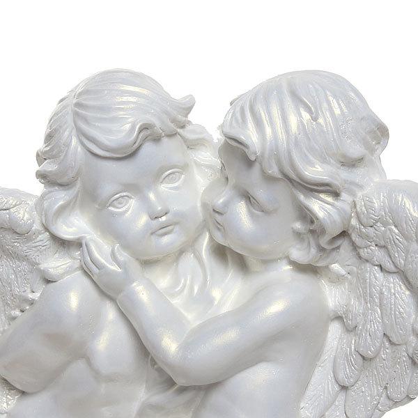Фигурка Ангелы пара (перламутр) 37см. купить оптом и в розницу