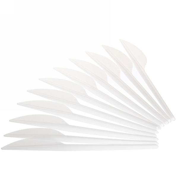 Нож одноразовый в наборе 12шт белый купить оптом и в розницу