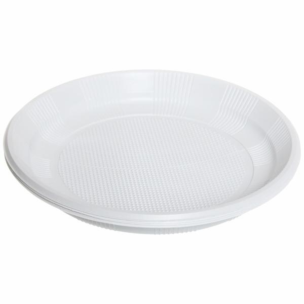Тарелка одноразовая 20,5см в наборе 12шт купить оптом и в розницу