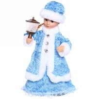 Снегурочка музыкальная 30см с фонарем в голубом платье купить оптом и в розницу
