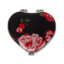 Зеркало косметическое ″Пионы″ сердце 7,5*7 195-7 купить оптом и в розницу