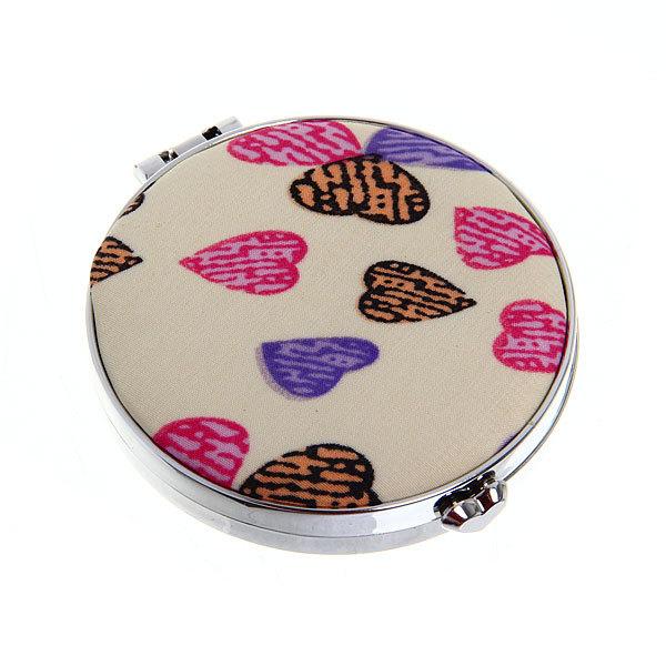 Зеркало косметическое ″Сердечки″ круг, цвета в ассортименте d-7см купить оптом и в розницу