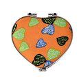 Зеркало косметическое ″Сердечки″ сердце, цвета в ассортименте 7,5*7см купить оптом и в розницу