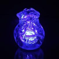 Фигурка с подсветкой ″Мешочек Дед Мороза″ 7*5 см купить оптом и в розницу