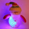 Ёлочная игрушка мягкая 12см″Дед Мороз″ с подсветкой купить оптом и в розницу