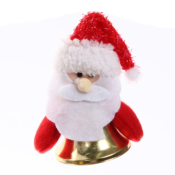 Ёлочная игрушка мягкая 12см ″Дед Мороз″ колокольчик купить оптом и в розницу