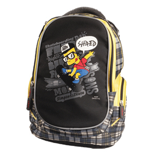 Рюкзак подростковый PROFF Largo 38*29*18 см,  с 2-мя отд. на молнии, брелоком для ключей, 2-мя боковыми карм., уплот.лям. и спинкой купить оптом и в розницу
