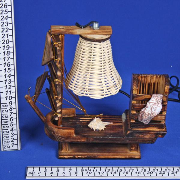 Светильник настольный дерево ″Абажур″ 2286 h-41см (220В, Е27, вкл/выкл, 40 Вт)укомплектованный купить оптом и в розницу