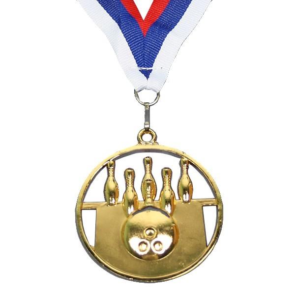 Медаль ″ Боулинг ″- 1 место (6,5см) купить оптом и в розницу