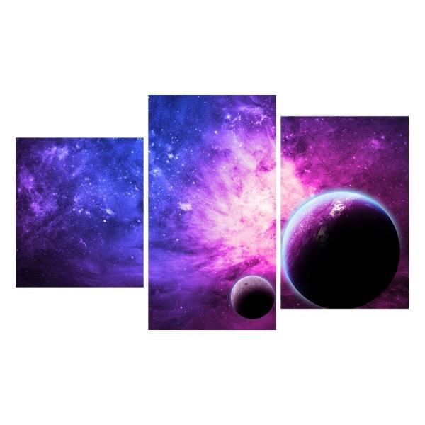 Картина модульная триптих 55*96 Космос диз.4 31-01 купить оптом и в розницу