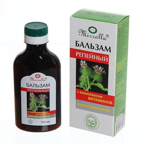 Бальзам репейный «Mirrolla» с комплексом витаминов для укрепления волос 150 мл купить оптом и в розницу