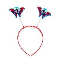 Ободок карнавальный бабочка простая на пружинке купить оптом и в розницу