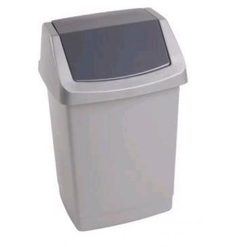 Контейнер для мусора 9 л серебристый графит/*12 шт купить оптом и в розницу