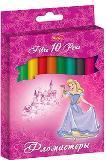 Фломастеры 10цв Hatber Принцессы на розовом  к/у купить оптом и в розницу
