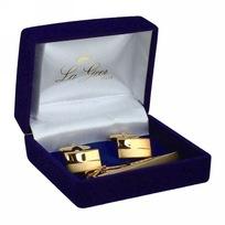 Подарочный набор ″LA GEER″: заколка для галстука, запонки (уп.1/200шт.) 61246 купить оптом и в розницу