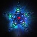 Звезда для елки светодиодная, 30 ламп LED, 24см, мультицвет, провод 2 м купить оптом и в розницу
