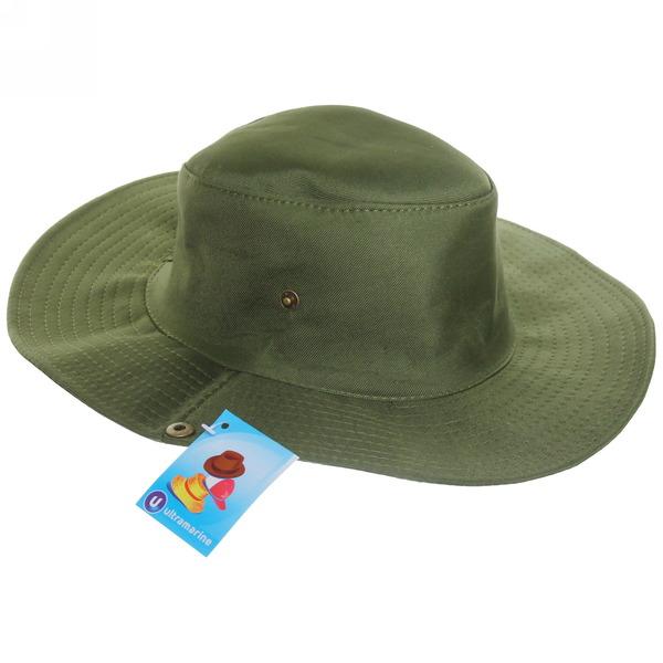 Шляпа мужская с клепками зеленый цвет 58см купить оптом и в розницу