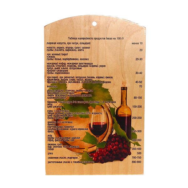 Доска разделочная сувенирная 25*40*0,8см ″Вино″ купить оптом и в розницу