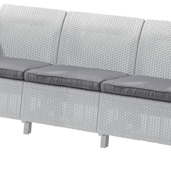 Диван Corfu love seat max тем.серый\серый с подушками купить оптом и в розницу