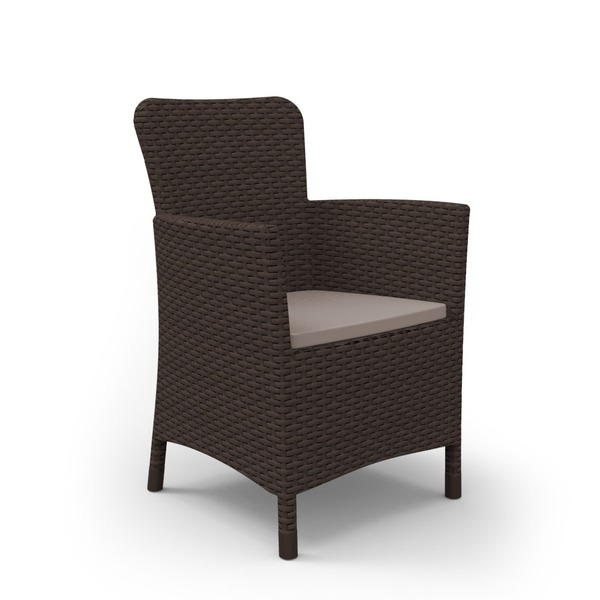 Кресло  (искусственный ротанг) MIAMI коричневый Curver купить оптом и в розницу