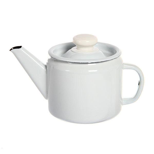 Чайник заварочный эмалированный 1л без декора купить оптом и в розницу