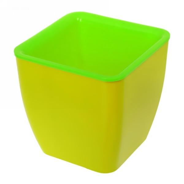 Горшок для цветов Square couleurs 8 Л_140-02 Желтый/зел. купить оптом и в розницу