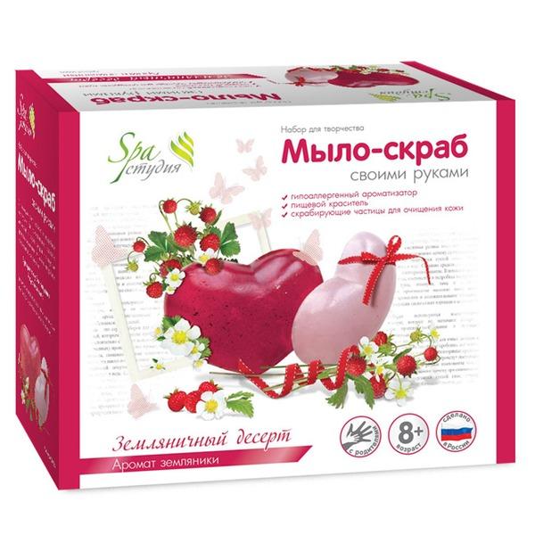 Набор ДТ Мыло-скраб Земляничный десерт С0108 купить оптом и в розницу